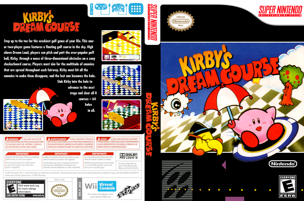 Kirby's Dream Course Wii coverfullHQ (JBCE)
