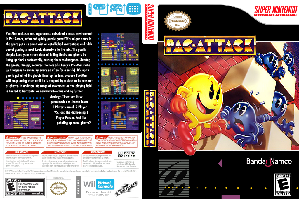 Pac-Attack Wii coverfullHQ (JBLE)