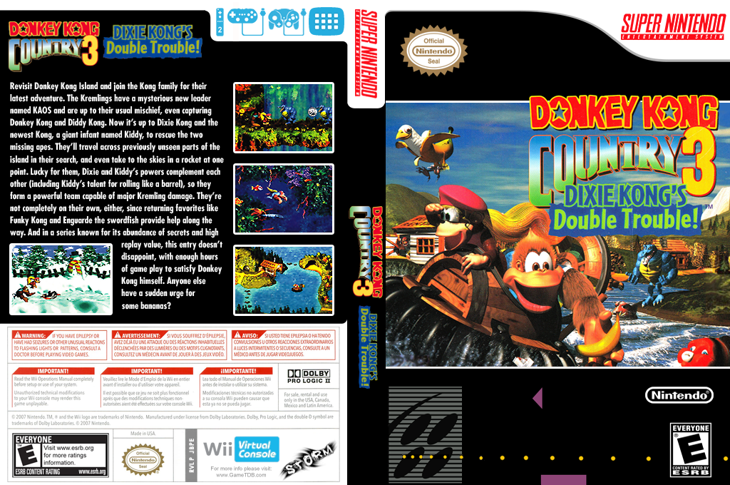 Donkey Kong Country 3: Dixie Kong's Double Trouble Wii coverfullHQ (JBPE)