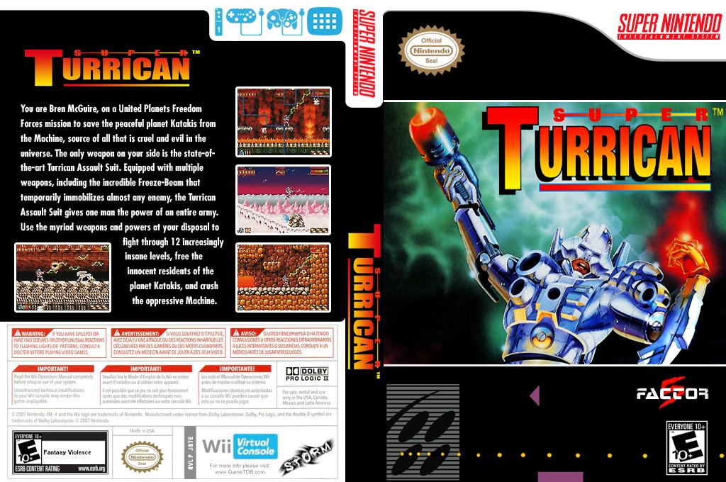 Super Turrican Wii coverfullHQ (JBTE)