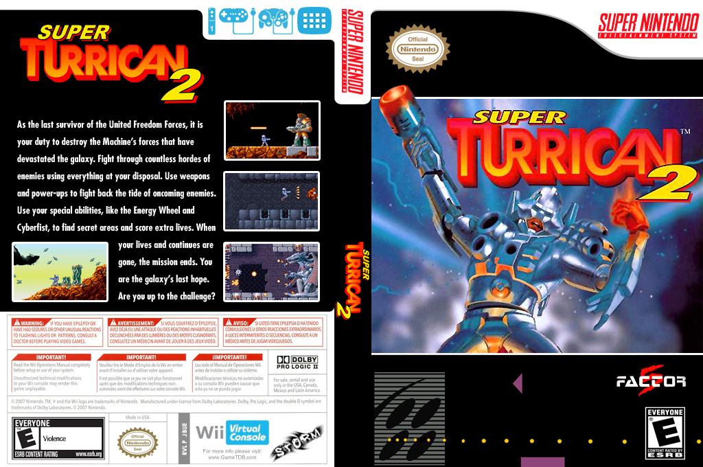 Super Turrican 2 Wii coverfullHQ (JBUE)