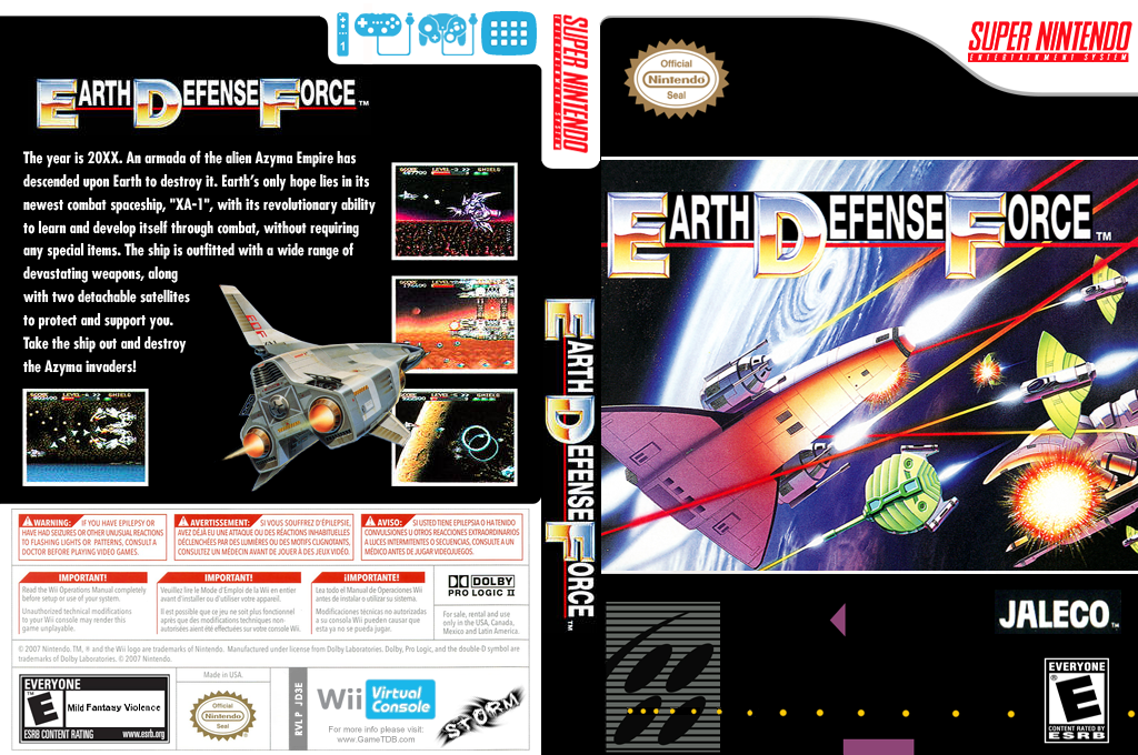 Super E.D.F. Earth Defense Force Wii coverfullHQ (JD3E)