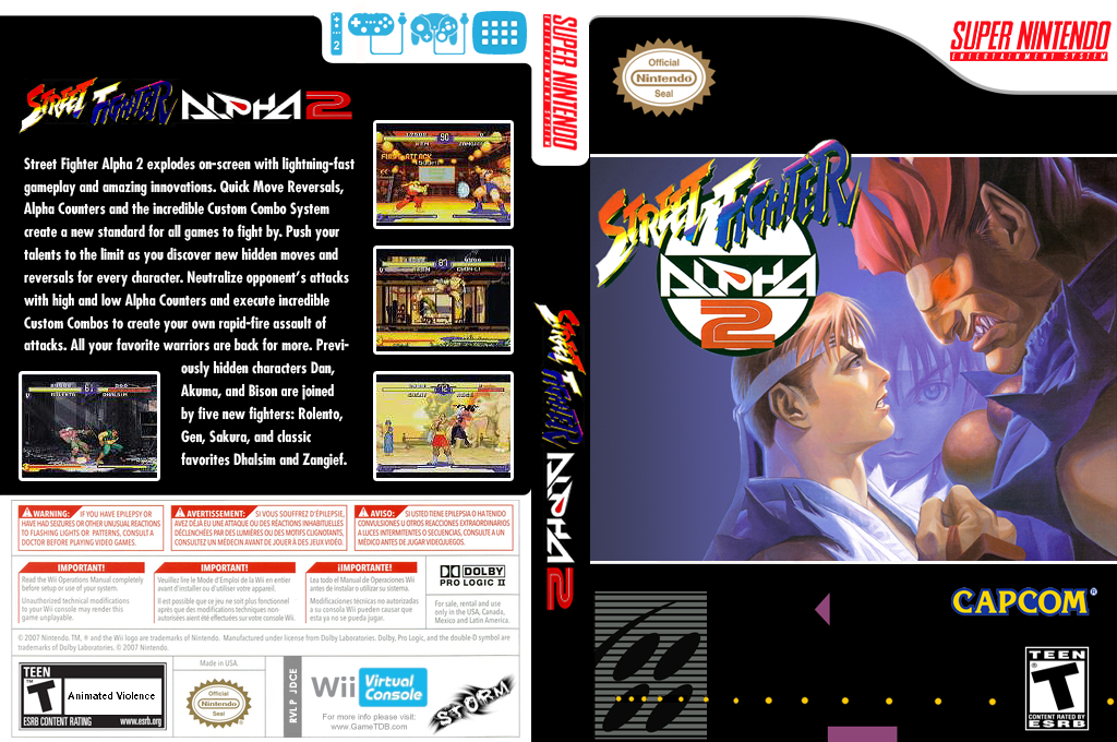 Street Fighter Alpha 2 Wii coverfullHQ (JDCE)