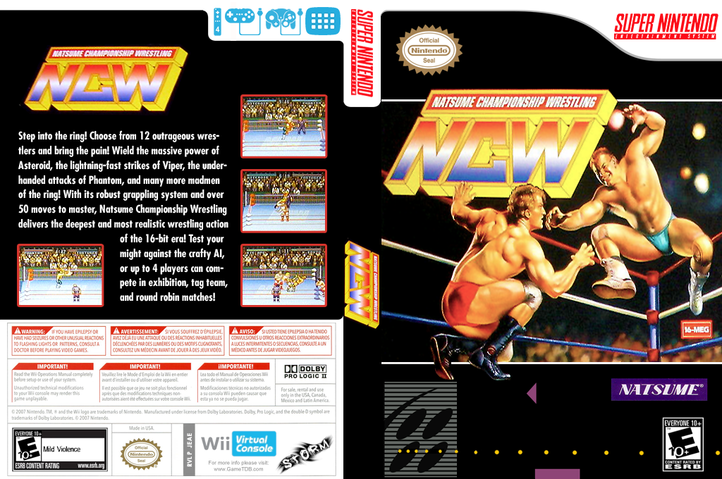 Natsume Championship Wrestling Wii coverfullHQ (JEAE)