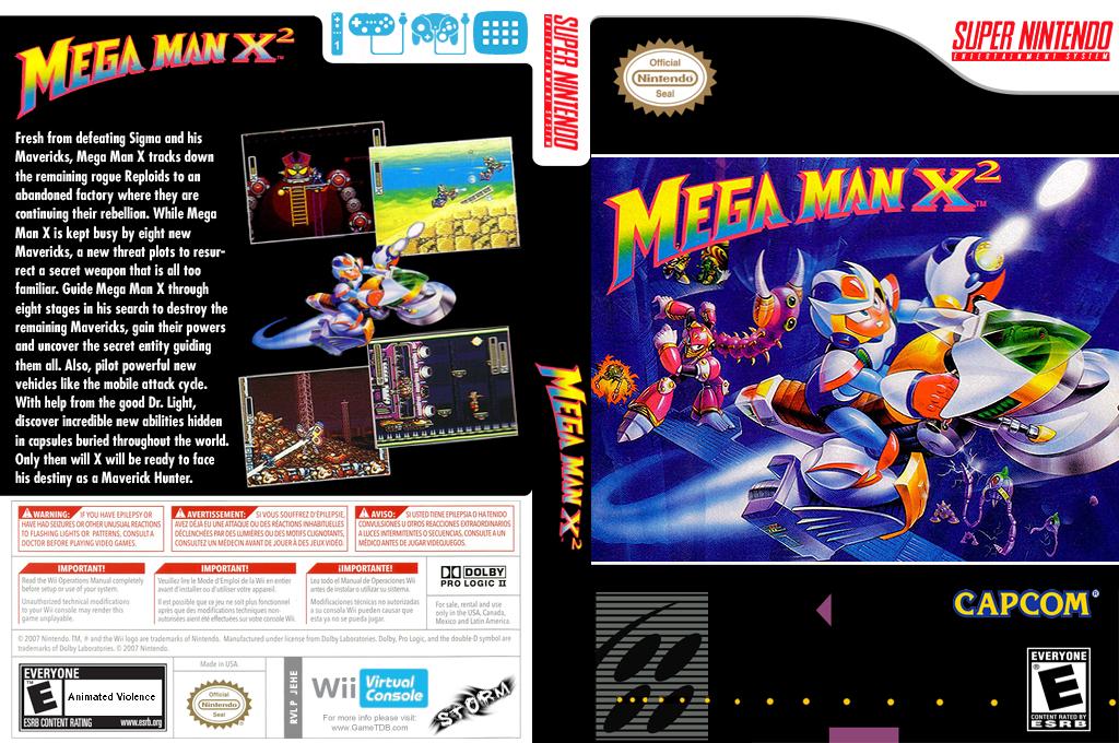 Mega Man X2 Wii coverfullHQ (JEHE)
