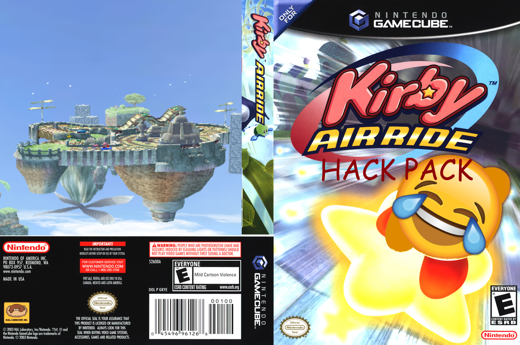 Kirby Air Ride Hack Pack Wii coverfullHQ (KHPE01)
