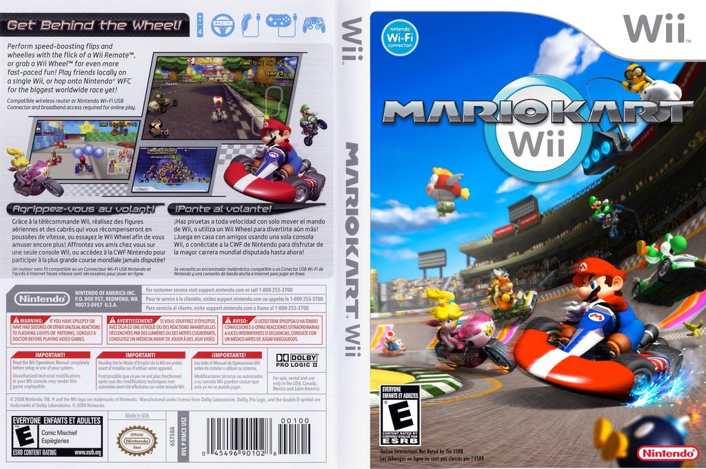 Kustom Mario Kart Wii Wii coverfullHQ (KMKE01)
