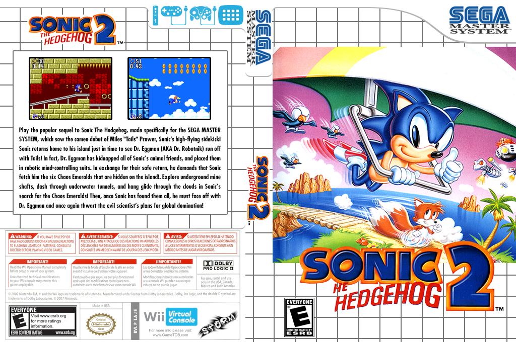 Sonic the Hedgehog 2 Wii coverfullHQ (LAJE)