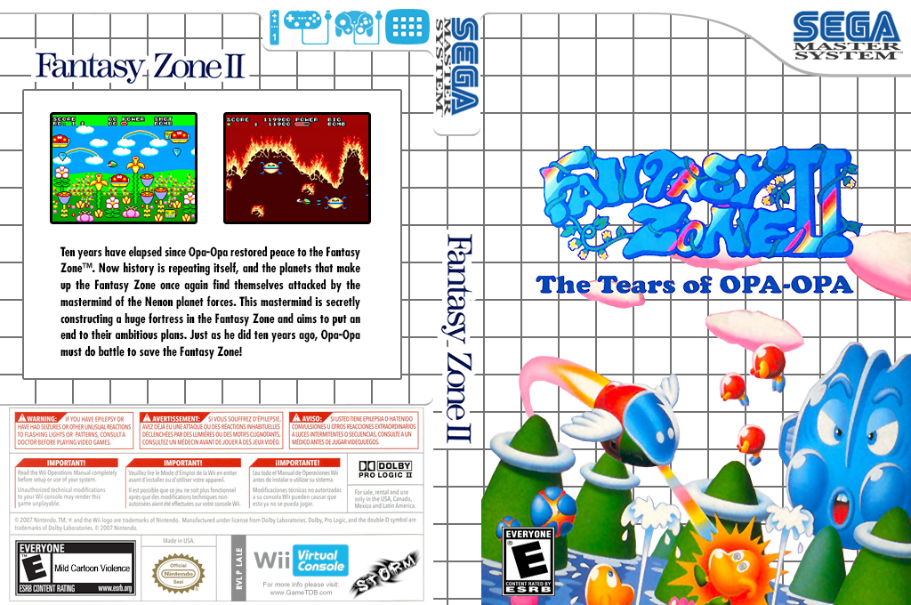 Fantasy Zone II: The Tears of OPA-OPA Wii coverfullHQ (LALE)