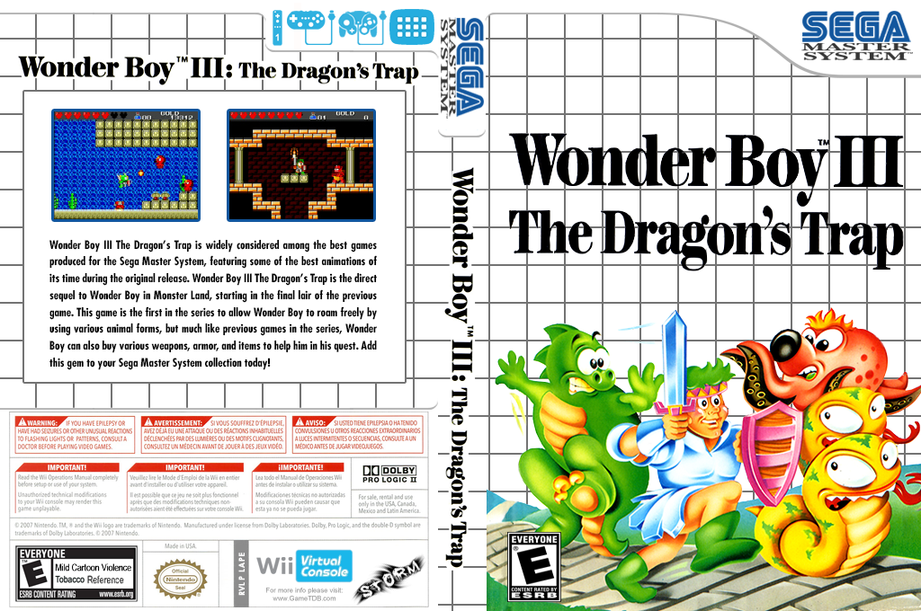 Wonder Boy III: The Dragon's Trap Wii coverfullHQ (LAPE)