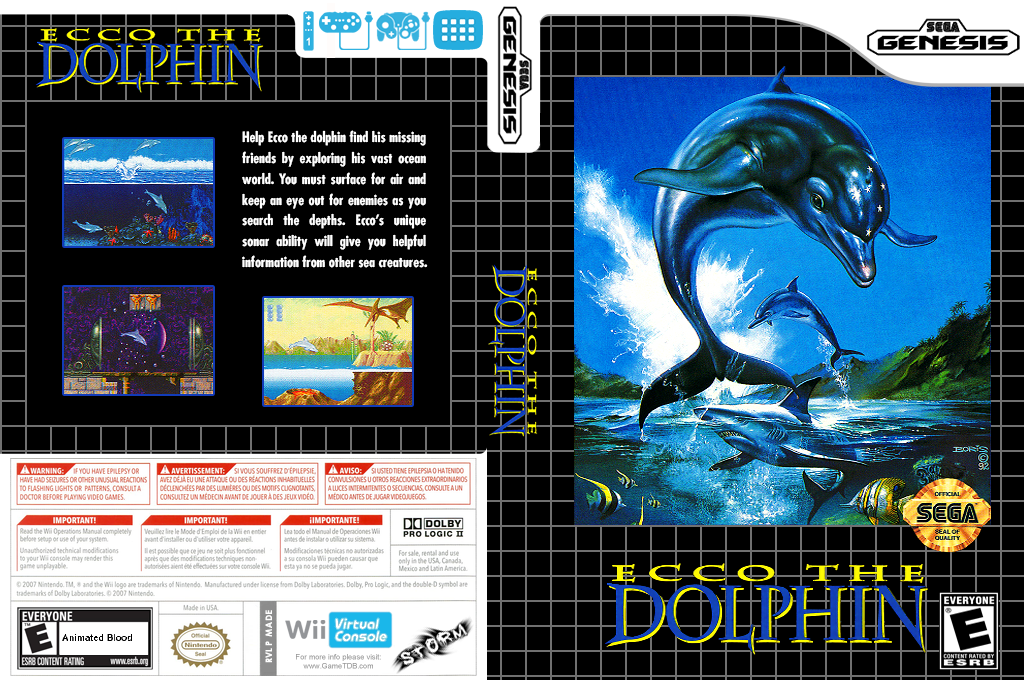 Ecco the Dolphin Wii coverfullHQ (MADE)