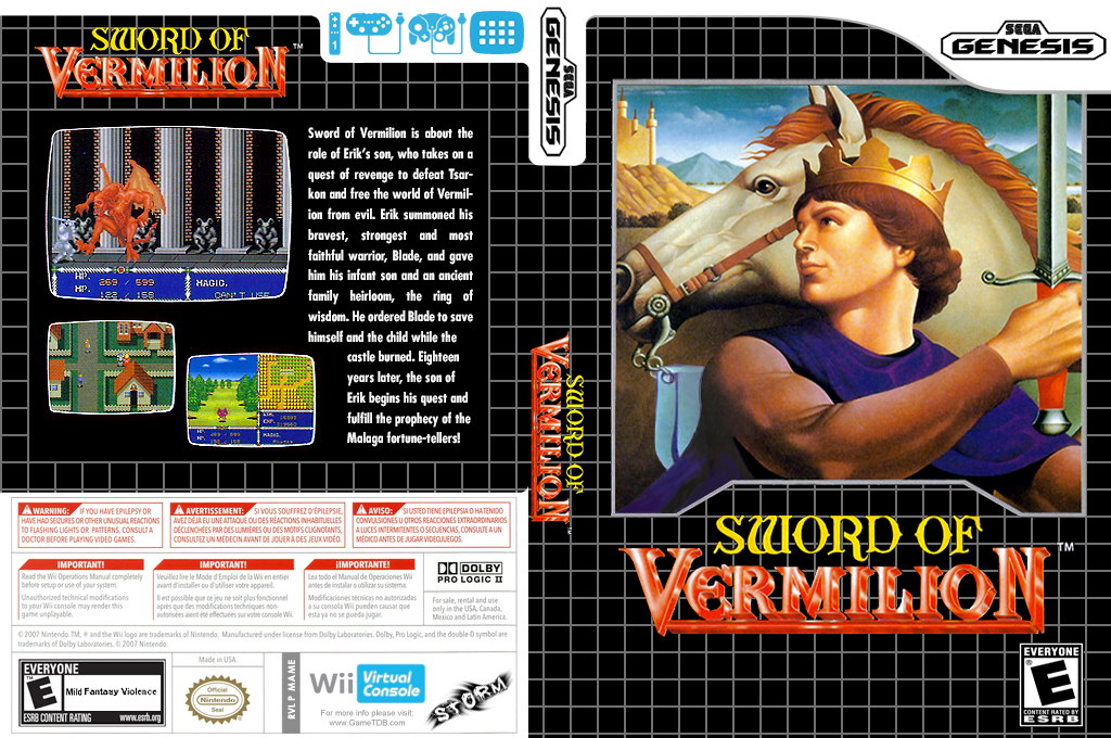 Sword of Vermillion Wii coverfullHQ (MAME)