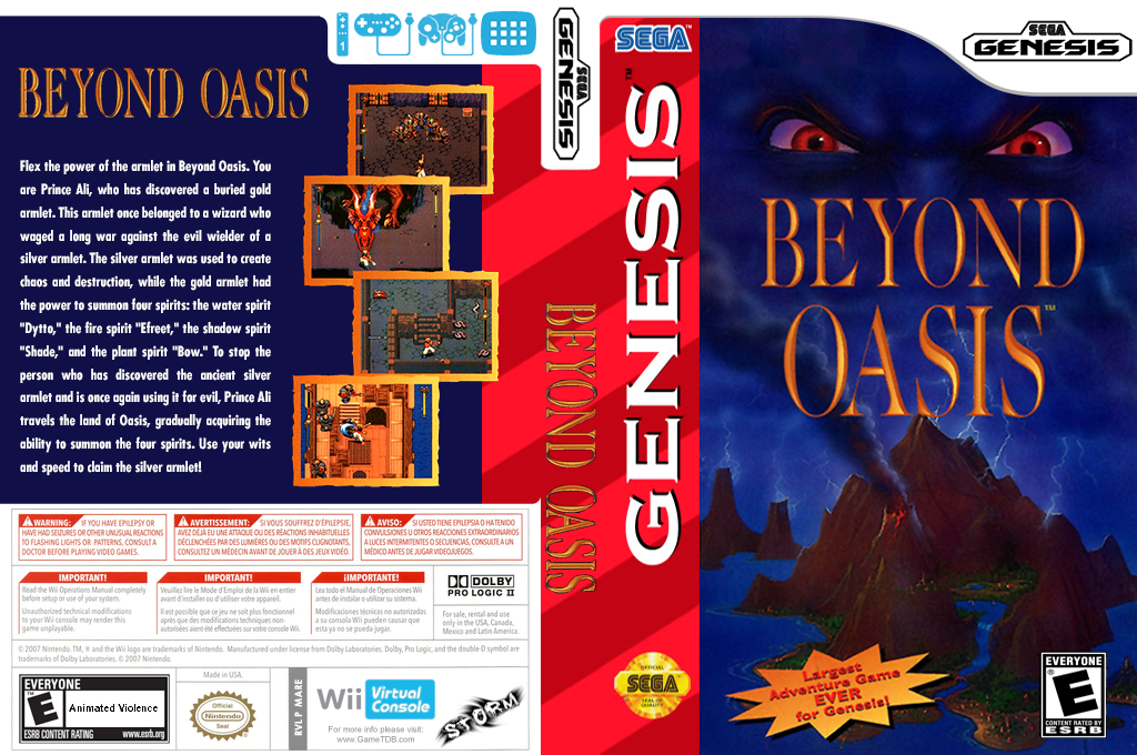 Beyond Oasis Wii coverfullHQ (MARE)