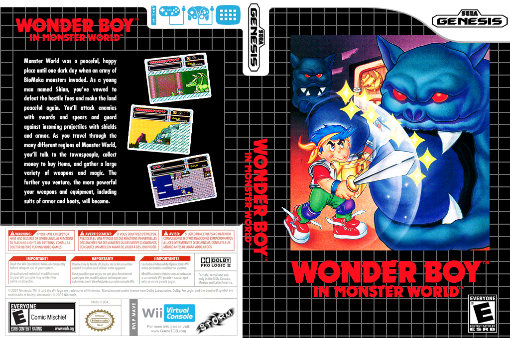 Wonder Boy in Monster World Wii coverfullHQ (MAVE)