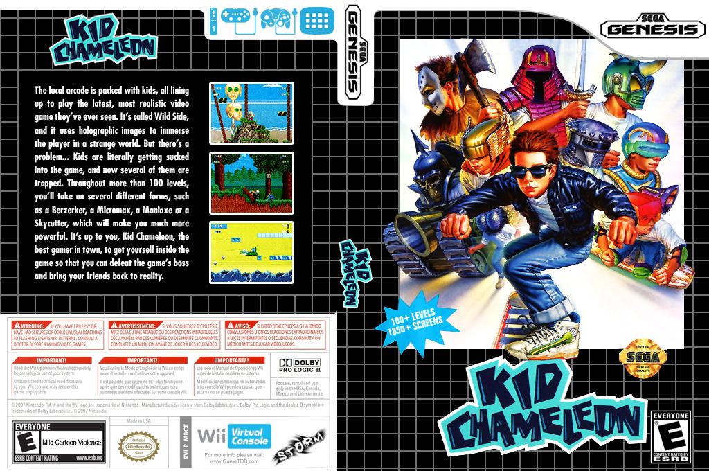 Kid Chameleon Wii coverfullHQ (MBCE)