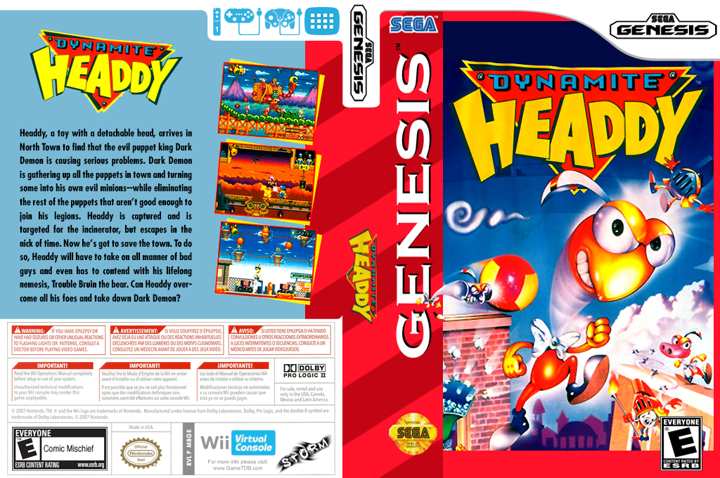 Dynamite Headdy Wii coverfullHQ (MBGE)