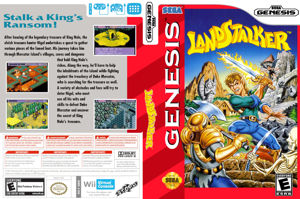Landstalker: The Treasures of King Nole Wii coverfullHQ (MBIE)