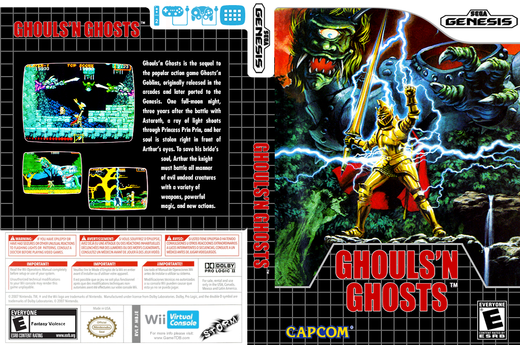 Ghouls'n Ghosts Wii coverfullHQ (MBJE)