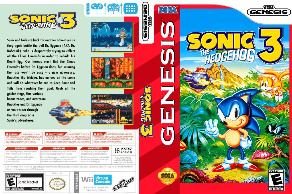 Sonic the Hedgehog 3 Wii coverfullHQ (MBME)