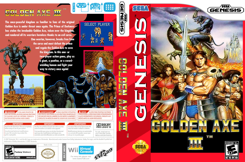 Golden Axe III Wii coverfullHQ (MBOE)