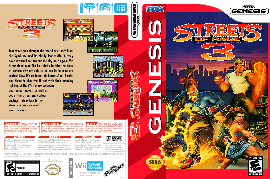 Streets of Rage 3 Wii coverfullHQ (MBQE)