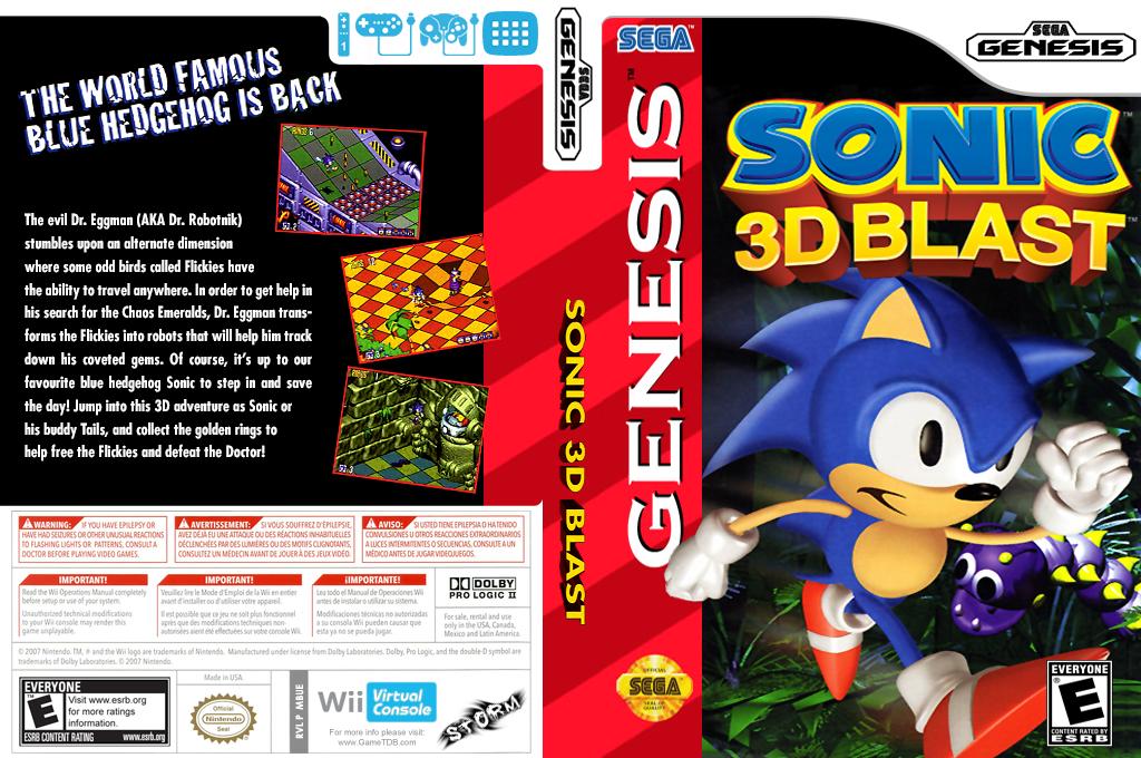 Sonic 3D: Blast Wii coverfullHQ (MBUE)