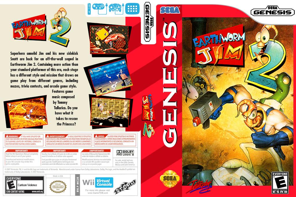 Earthworm Jim 2 Wii coverfullHQ (MC2E)