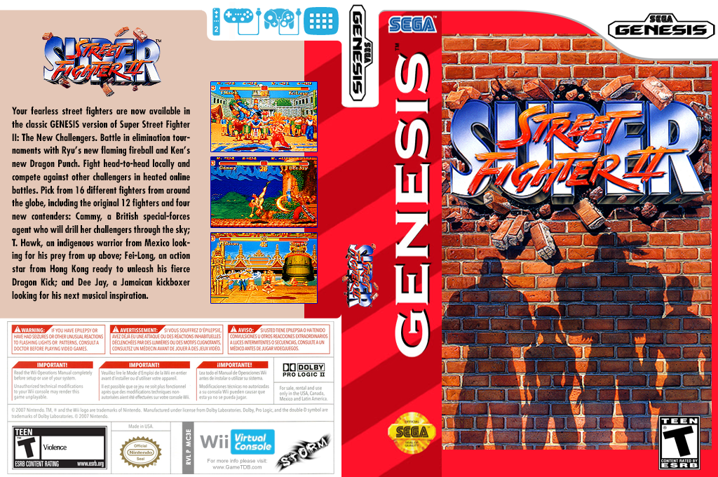 Super Street Fighter II: The New Challengers Wii coverfullHQ (MC3E)