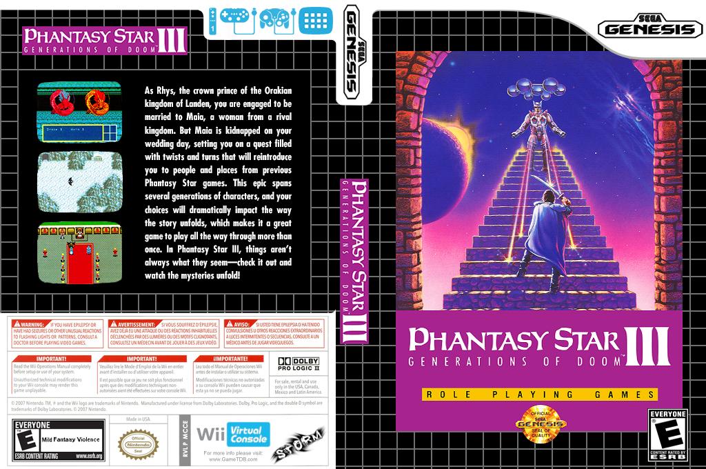 Phantasy Star III Wii coverfullHQ (MCCE)