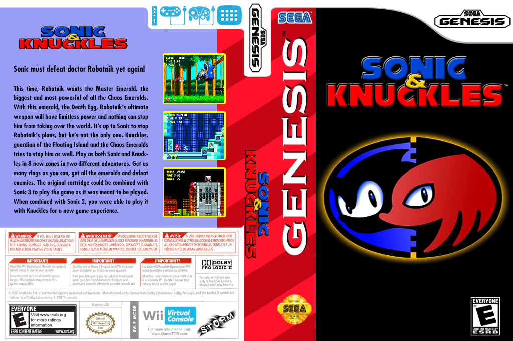 Sonic & Knuckles Wii coverfullHQ (MCDE)