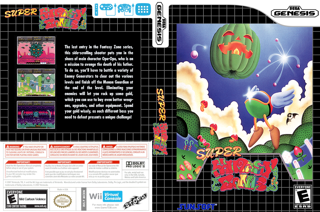 Super Fantasy Zone Wii coverfullHQ (MCEN)