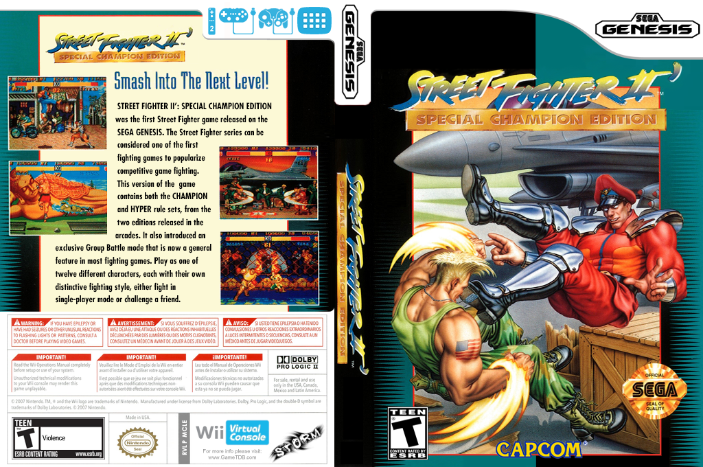 Street Fighter II': Special Champion Edition Wii coverfullHQ (MCLE)