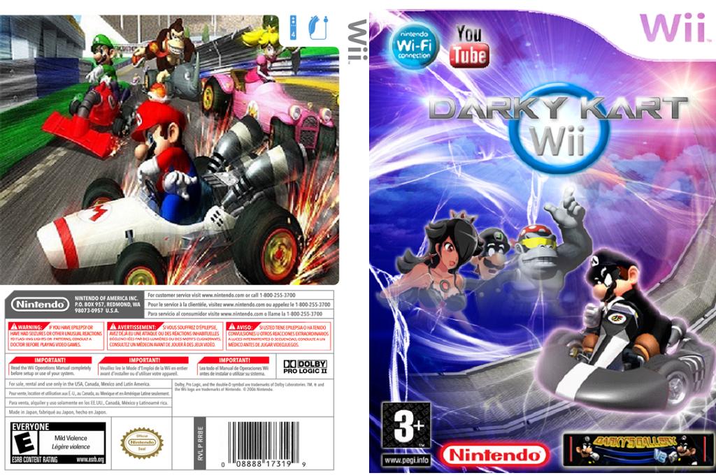 Darky Kart Wii Wii coverfullHQ (MKDE02)