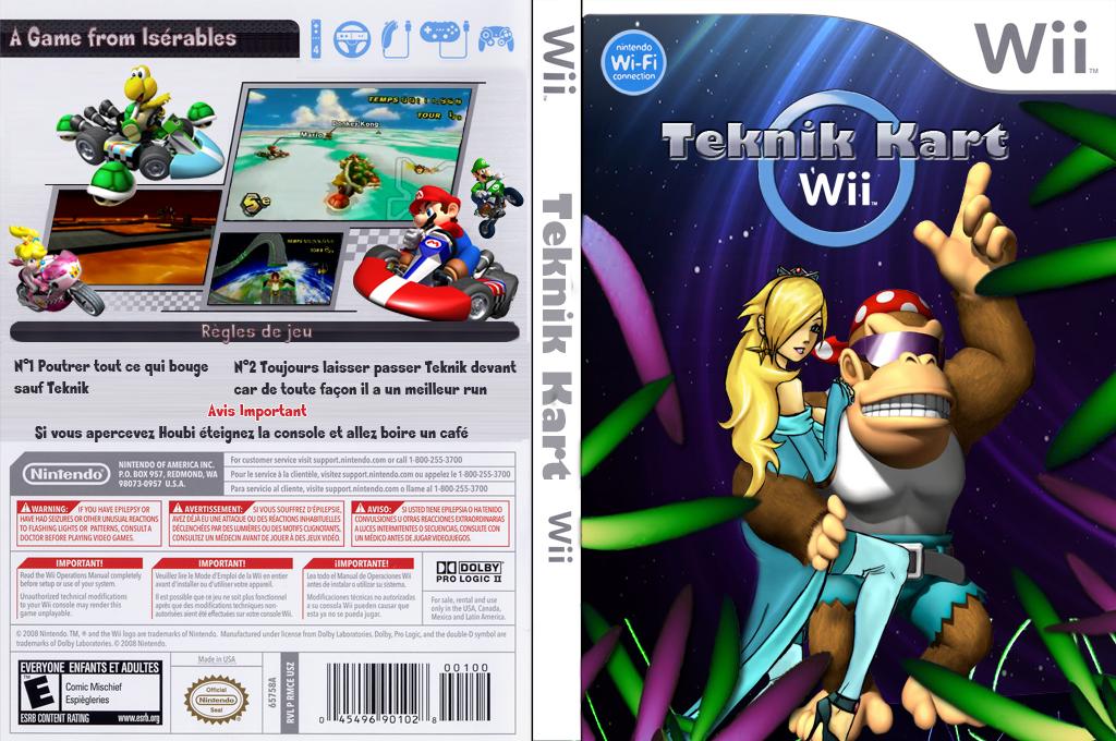 Mario Kart Wii Teknik Wii coverfullHQ (MKTE01)