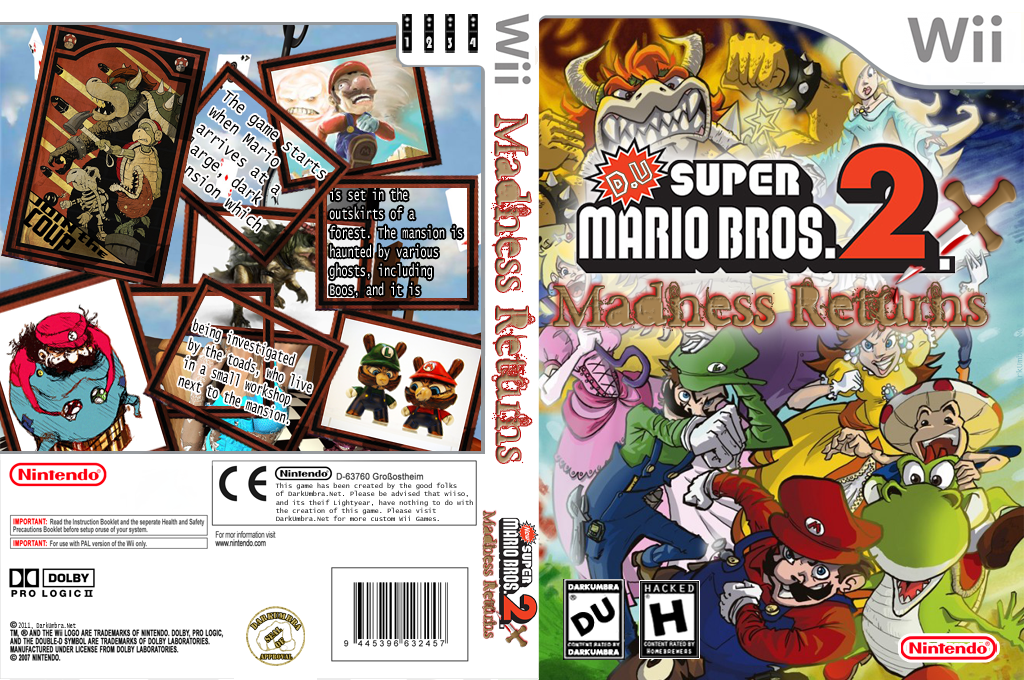 D.U. Super Mario Bros 2.1 Madness Returns Wii coverfullHQ (MMRE01)