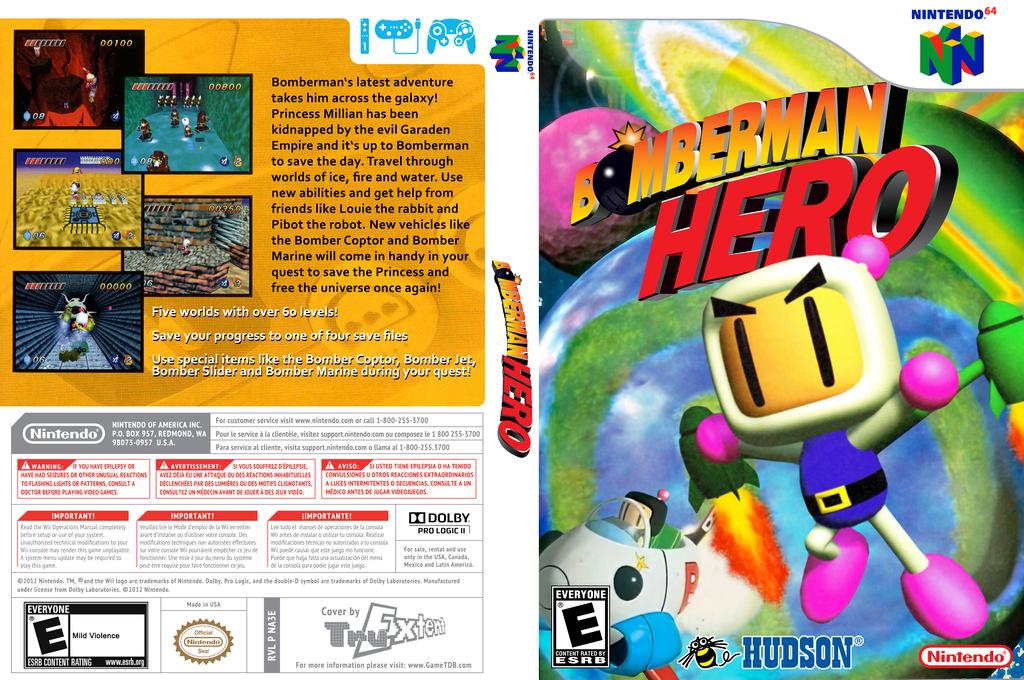 Bomberman Hero Wii coverfullHQ (NA3E)
