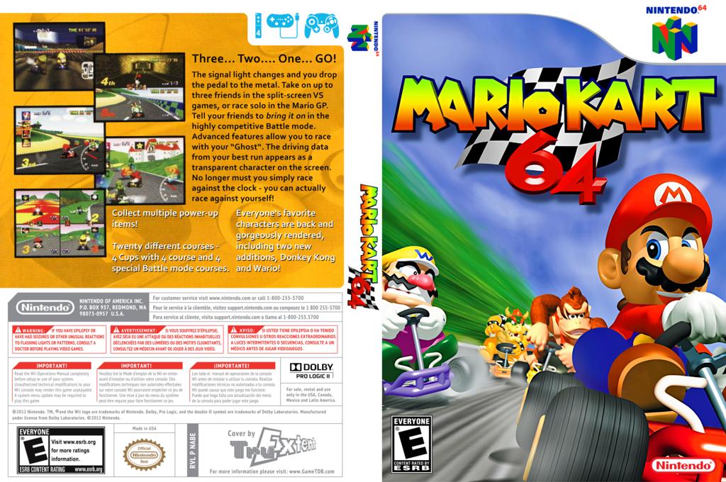 Mario Kart 64 Wii coverfullHQ (NABE)