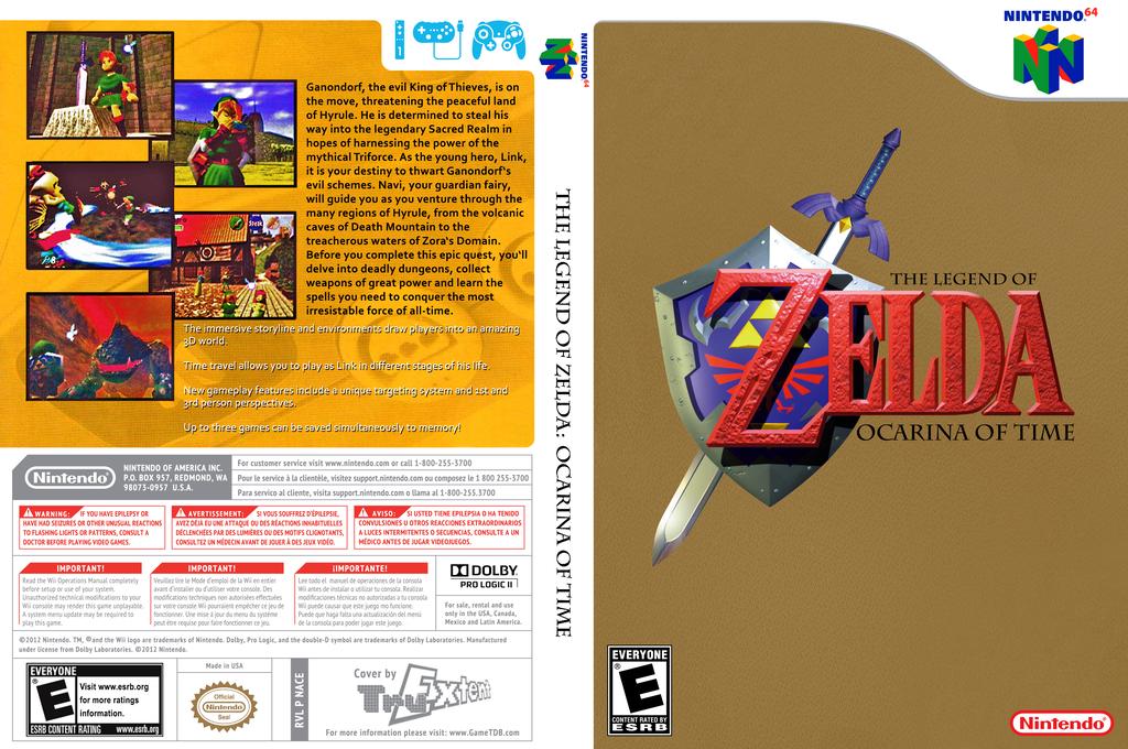 The Legend of Zelda: Ocarina of Time Wii coverfullHQ (NACE)