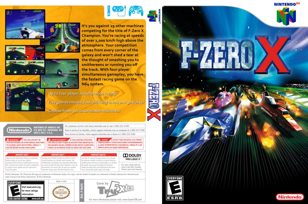 F-Zero X Wii coverfullHQ (NAFE)