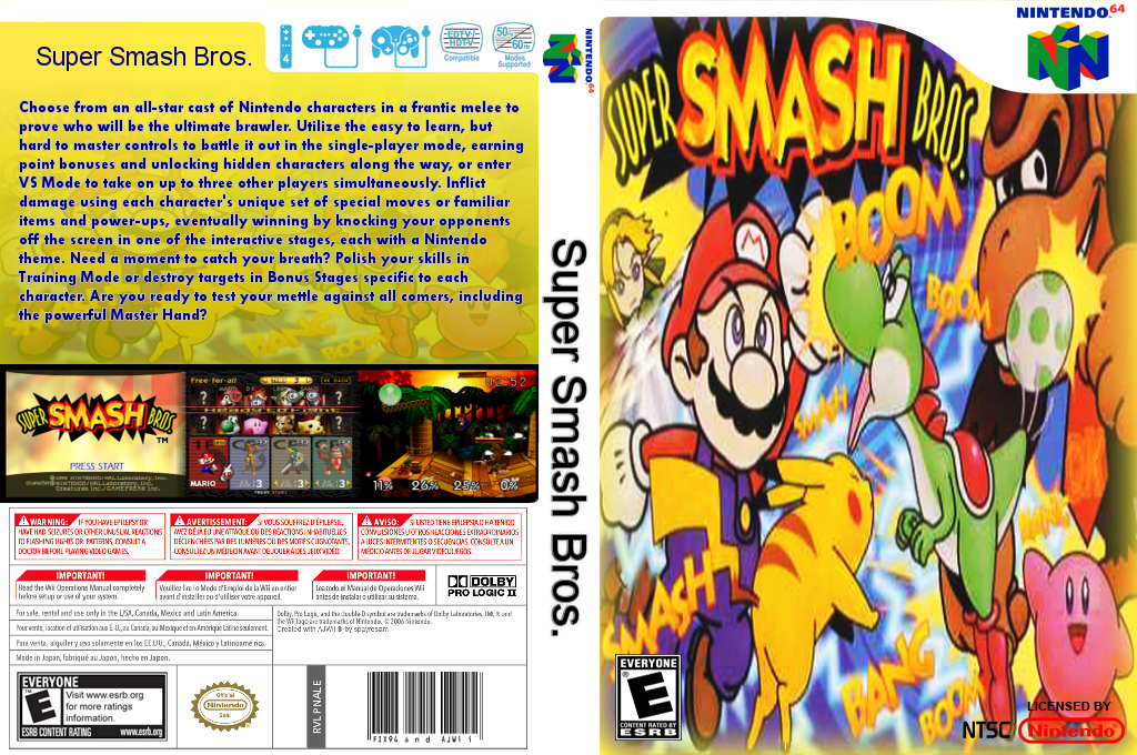 Super Smash Bros. Wii coverfullHQ (NALE)