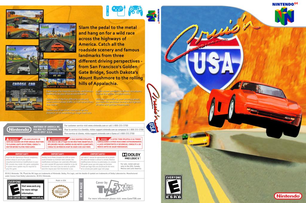 Cruis'n USA Wii coverfullHQ (NASE)