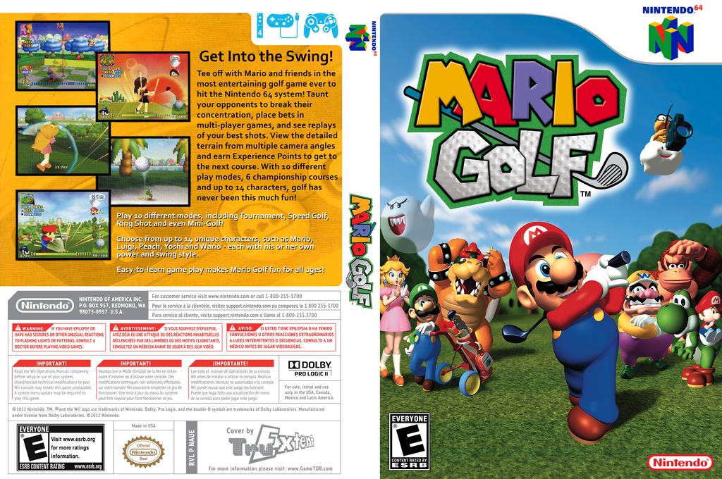 Mario Golf Wii coverfullHQ (NAUE)