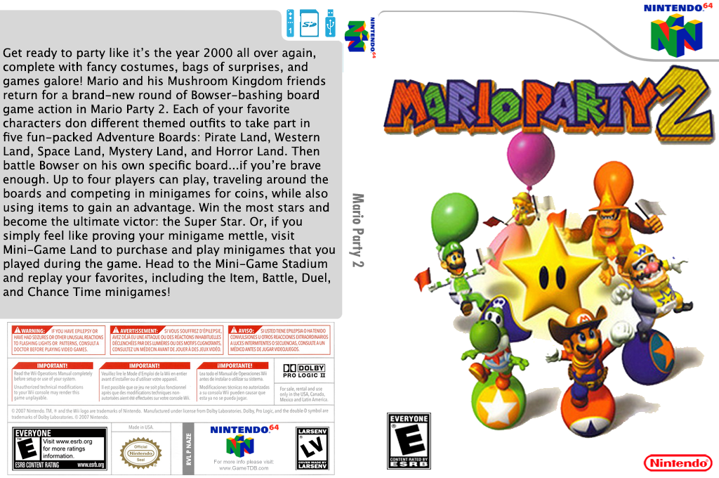 Mario Party 2 Wii coverfullHQ (NAZE)