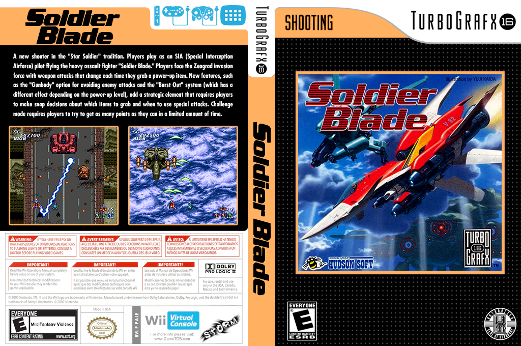 Soldier Blade Wii coverfullHQ (PALE)