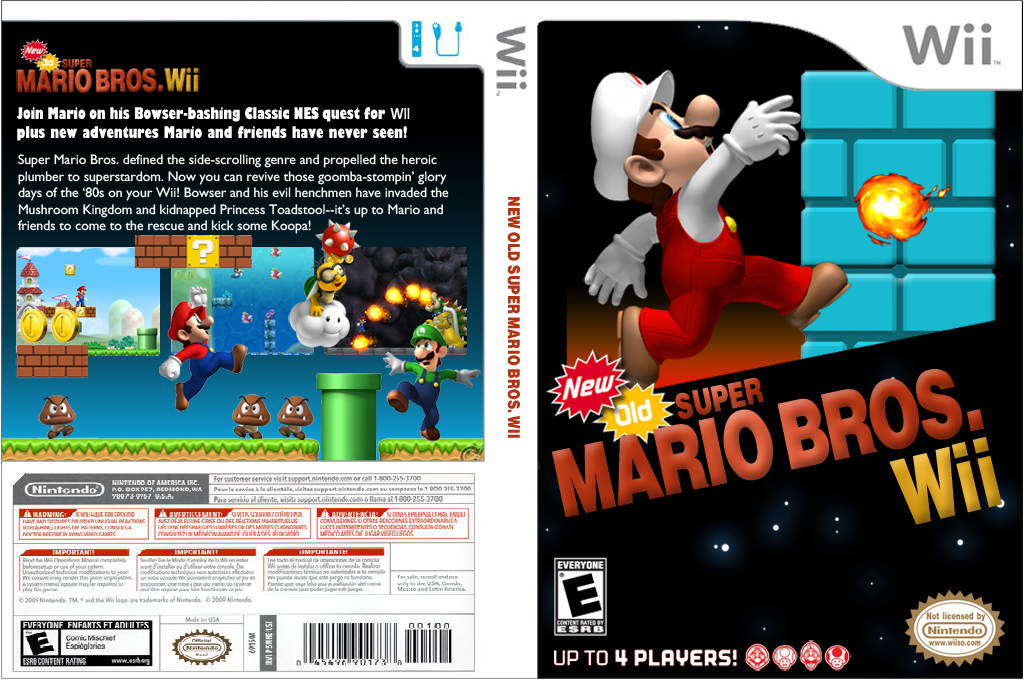 New Old Super Mario Bros. Wii Wii coverfullHQ (PMNEO1)