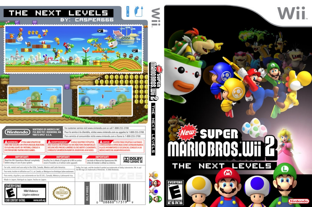 New Super Mario Bros. Wii 2: The Next Levels Wii coverfullHQ (PPNE01)