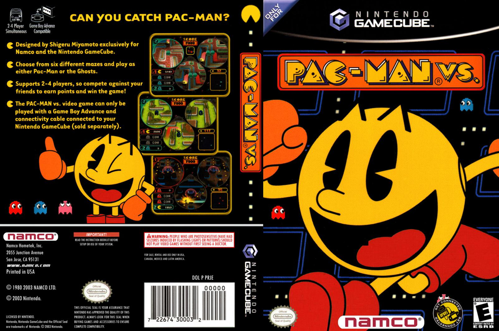 Pac-Man vs. Wii coverfullHQ (PRJE01)