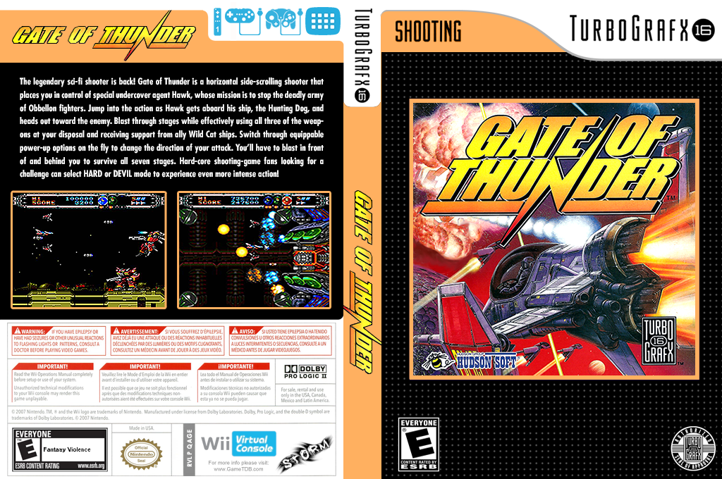 Gate of Thunder Wii coverfullHQ (QAGE)