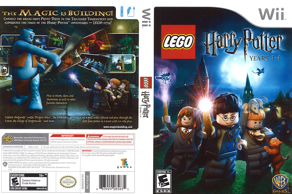 LEGO Harry Potter: Years 1-4 Wii coverfullHQ (R25EWR)