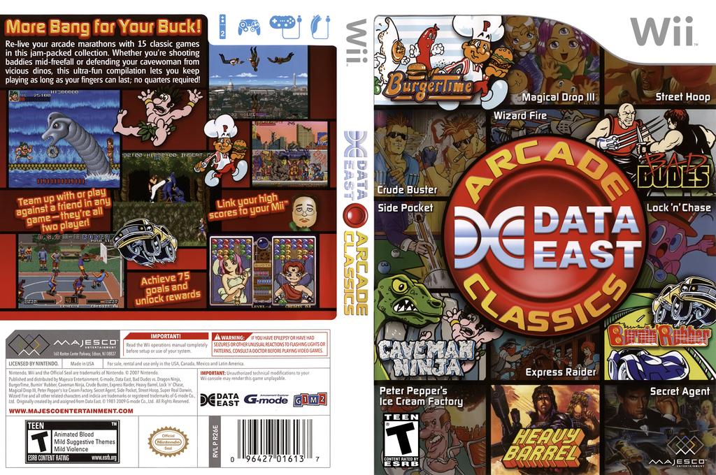 Data East Arcade Classics Wii coverfullHQ (R26E5G)